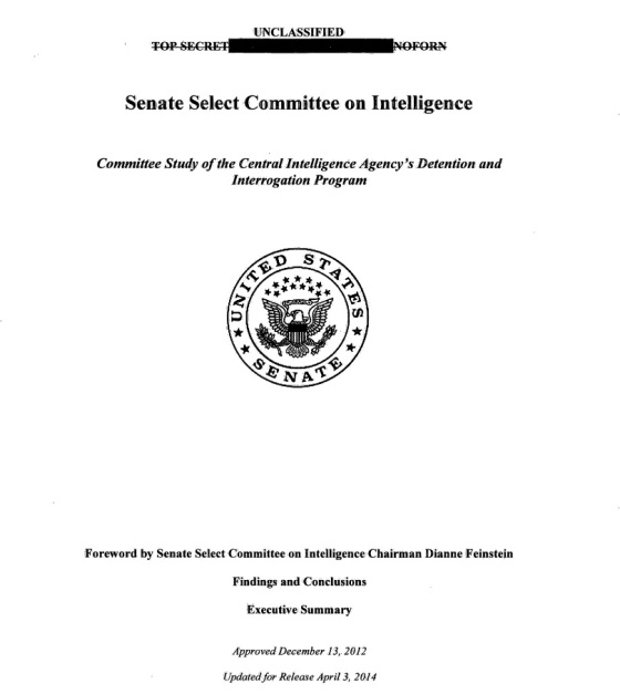 Committee Study ofthe CentralIntelligenceAgmcy 's Detention and Interrogation Program.