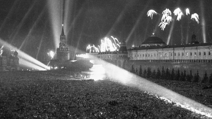 Plaza Roja, Moscu. Mayo 8, 1945.